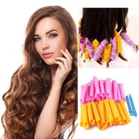 Wholesale 18PCS DIY CM Magic Leverag Hair Curlers Tool Styling Rollers Spiral Circle Hair Curlers Magic Spiral Ringlets curler Perm Leverage