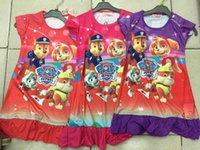 Cheap baby kids girls paw patrol Pajamas Best Paw patrol tops clothes clothing