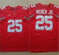 Wholesale 25 Mike Weber J T Barrett Nick Bosa Ohio State Buckeyes College Football Jerseys New Style Cheap Stitched Jersey