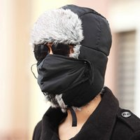 Wholesale 2016 New Men Women Winter Warm Bomber Hats Caps Russian Trapper Aviator Trooper Earflap Outdoor Sport Snow Ski Hat Cap