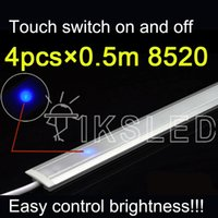 Wholesale touch switch control m rigid strip dimmable under cabinet strip lighting Kitchen led light b DC12V rigid Strip