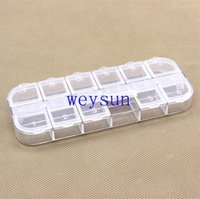 Wholesale New Nail Art Empty Compartment Plastic Storage Box Earring Jewelry Bin Case Container Sewing box