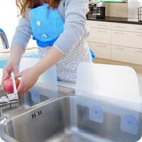 Wholesale CREATIVE HOME DRY KITCHEN WASH BASIN SUCKER VACUUM CUP SINK PLASTIC WATER ANTI SPLASH SPATTER GUARD DISH WASHING SPITTING BAFFLE BOARD