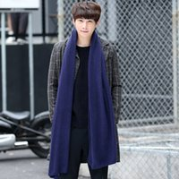 Wholesale 2016 hot sale fashion knitting scarf unisex pure winter long warm shawl