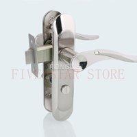 bathroom door handle - Zinc alloy mechanical handle door lock Interior special kitchen bathroom washroom door lock no cylinder