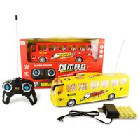 battery electric bus - 4 Channel Remote Control Bus with Charger Electric Battery Model City Light Car Function Light Plastic Toys