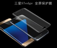 Wholesale Samsung Galaxy S7 Edge S6 EDGE PLUS Full Coverage Clear Soft TPU Screen Protector Film Cover Curved Not Tempered Glass