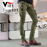 achat en gros de pantalons zippés-Gros-2016 nouvelle tendance de haute qualité plier pieds masculins élastique de mode jeans zip casual pantalons jeans taille M-xxxl de VC3622 de poche hommes