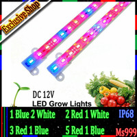 aquarium plant lights - LED Grow Lights lamp tubes led Plant Blue red white Aquarium Greenhouse Hydroponic Plant MSD5630 DC v M W highest level waterproof