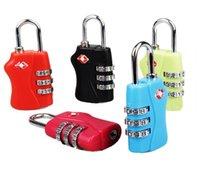 Wholesale TSA Luggage Strap Locks Digit Plastic Alloy Lock Password Customs Luggage Padlock Combination Suitcase Padlock Luggage Travel Lock E160805