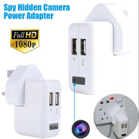 adapter device - 1080P HD power US UE AU Adapter spy hidden camera plug socket camera Covert surveillance Spy Cams without camera hole listening device