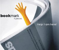 Wholesale The BOOK MARK Help Me Novelty Bookmark Funny Bookworm Gift Stationery Small palm bookmark