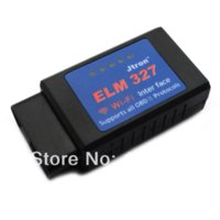 Wholesale Jtron EML327 OBD Wi Fi Auto Car Diagnostic Tool for IPHONE Black Blue tool life
