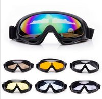 Wholesale 100 UV400 Protection Motorcycle Cycling Bicycle Bike Motocross Ski Snowboard Off road Goggles Sports POLYCARBONATE Eye Lens