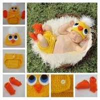 Wholesale The new children s photography clothing accessories studio at the age of one hundred days baby baby photo manual duck suits