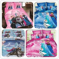 Wholesale New Styles frozen D Bedding set Quilt bed sheet Pillow Case Twin Queen Size Kids frozen Bedding Duvet Cover Flat Sheet By DHL Shipping