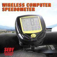 Wholesale New Wireless Bicycle Cycle Bike Computer Speedometer Odometer Meter SEDY