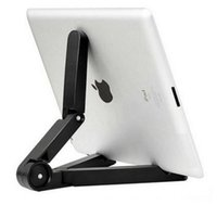 1piece/Lot aluminium angle brackets - Foldable Adjustable Angle Tablet Bracket Stand Holder Mount for iPad Tablet PC Mobile Phone Holder Less Than Inch