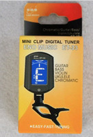 Wholesale Free DHL ET Turner ENO Clip On Guitar Bass Violin Ukulele Tuner LCD Screen popular