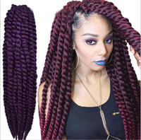 Wholesale 3 Pack quot Color Havana Mambo Twist Crochet Braid Hair Senegalese Synthetic Crochet Twist Jumbo Braiding Hair Extensions
