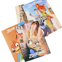 Wholesale Prettybaby zootopia k pages notebook cartoon school supplies magic book lined pages diary notepad booklet Pt0462 UPS