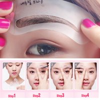 Wholesale 2016 New Per Set Magic Eye Brow Class Drawing Guide Eyebrow Stencil Card Template Assistant Cheap Sale