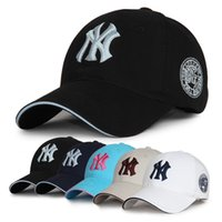 Wholesale 10 Colors Yankees Hip Hop MLB Snapback Baseball Caps Cotton Embroidery Shade NY hats Dome adjustable casual ball caps DHL