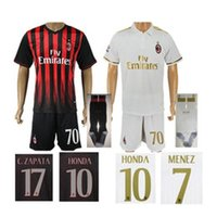 acm milan - 2016 Milan Soccer Jerseys AC Shirts Sets ACM Bacca Montolivo Shaarawy Bonaventura Home Away Football Kits Soccer Uniforms Jersey New