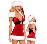 Wholesale Hot Selling Women Cutie Sexy Santa Dress FFC077 Christmas Cutie Sexy Santa Mini Dress