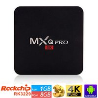 Wholesale Canada Stock MXQ Pro Quad Core Android TV Box G G HDMI H KODI Fully Loaded Smart TV Box Google Play Store