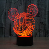 baby water table - Mouse Cartoon Table Lamp with D Effect LED Night Light Holiday Light Fun Light for Baby and Decoration Birthday Gift