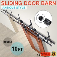 barn door closet - New FT Black Modern Antique Style Sliding Barn Wood Door Hardware Closet Set