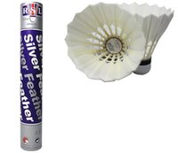 badminton birdies feather - 1 Tubes Top Quality Rsl Silver Rsl Badminton Shuttlecocks Duck Feather shuttlecocks Birdies Badminton Ball