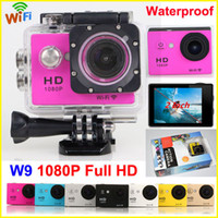 sports camcorder - SJ4000 Style Wifi Action Camera W9 LCD Screen Car DV M Waterproof P Full HD Extreme Sport Camera HDMI digital Camcorders