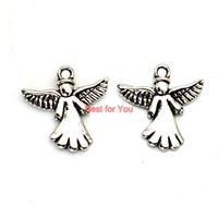 fairy charms - Angel Fairy Charm Tibetan Silver Plated Pendant Statement Jewelry Making DIY Handmade Jewelry Accessories fit for European Necklace