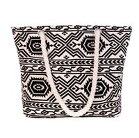 Wholesale Fashion Womens Stripe Floral Printed Canvas Tote Bag Casual Beach Shopping Work Handbag Shoulder Bag