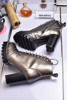 arrival deserts - 2016 fall new Arrivals Fashion Womens black shiny Genuine patent Leather lace up with Side zipper Platform shoes high heel Desert Boots