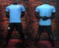 best kit homes - Best Quality Uruguay L SUAREZ Home blue Set kits Soccer Jerseys Men Adult Football Jersey Shirts