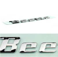 auto parts products - New product auto spare parts car accessory New beetle logo beetle letter bagde beetle emblem chrome Decal sticker for VOLKSWAGEN