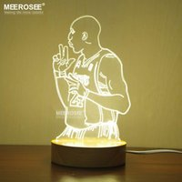 Wholesale Hot selling LED Kobe Table night light color shifty LED D Desk lamp lustre Bedroom reading room Kobe Bryant Acrylic LED lamp