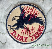 bald eagle flying - American Bald Eagle black Flying Gold Badge Iron on Embroidered patch Gift shirt bag trousers coat Vest Individuality