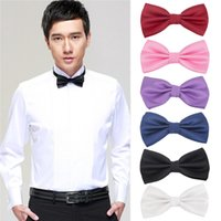 Wholesale Men s Butterfly Multicolor Pre tied Bow tie Prom Wedding Formal Party