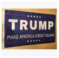 Wholesale 90x150cm BlueLine USA Police Flags x5 Foot Thin Blue Line USA Flag Black White And Blue American Flag trump flag Newest