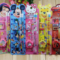 Wholesale New cartoon stationery Christmas gifts set for Students Supplies Cases Bag office supplier student stationery set B0766