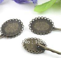 antique hair slides - Antique Bronze Bobby Hair Pins Clip Slide Blanks Pads lead amp nickle safe mm