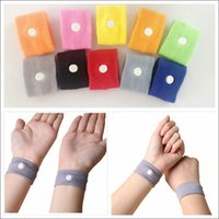 Wholesale 10000 BBA4145 HOT Anti nausea Waist Support Sports cuffs Safety Wristbands Carsickness Seasick Anti Motion Sickness Motion Sick Wrist Bands