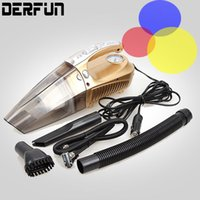 Wholesale Auto Car Vacuum Cleaner Air Pump Tire Tyre Air Pressure Tester With Lighting wet dry in cigarette lighter Dc12V W Portable