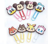 Wholesale Cute Cartoon Book Mark Paper Clip Multi Fuction ABS Handmake Craft Character Clips Files Paper Book Mark Bookmark