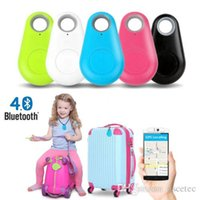 Wholesale Free DHL Wireless Bluetooth Itag Tracker Bags Pet Kids GPS Locator Alarm Itag Smart Finder Anti Lost Reminder