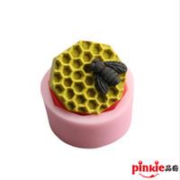 achat en gros de savon de moules-abeille cellulaire à la main moule en silicone de savon diy, moules de savon de bougie, moule de moutons, moules, sous forme de gros de savon